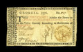 Georgia 1776 $4 Very Good-Fine. The signatures are sharp on this bi-color example that has a nice repair in the upper ri...