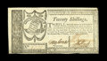 Colonial Notes:Georgia, Georgia October 16, 1786 20s Extremely Fine. Save for an extremelyminor restoration at the lower-right cornertip, this hand...