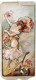 Illustration:Advertising, AMERICAN ILLUSTRATOR (Late 19th - Early 20th Century) . Yankee Doodle Girls, circa 1900 . Mixed-media on board . 30 x 14...
