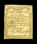 Colonial Notes:Massachusetts, Massachusetts 1779 4s/6d Fine-Very Fine. This lovely Rising Sunnote is well printed on both sides with period arithmetic ci...