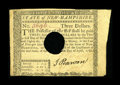 Colonial Notes:New Hampshire, New Hampshire April 29, 1780 $3 About New. A light fold and acorner tip nick are seen on this hole cancelled example that h...