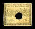 Colonial Notes:New Hampshire, New Hampshire April 29, 1780 $4 Extremely Fine-About Uncirculated,HOC....