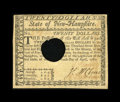 Colonial Notes:New Hampshire, New Hampshire April 29, 1780 $20 Extremely Fine-About New HOC. Afold is noticed on this cancelled example which possibly w...