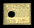 Colonial Notes:New Hampshire, New Hampshire April 29, 1780 $20 Very Fine-Extremely Fine HOC. Anattractive, wholly original example, with great remaining ...