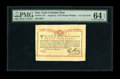 Colonial Notes:New York, New York August 2, 1775 (Water Works) 8s PMG Choice Uncirculated 64 EPQ. This note, which is from the Ford Collection, is on...