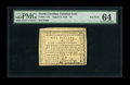 Colonial Notes:North Carolina, North Carolina August 8, 1778 $5 PMG Choice Uncirculated 64. Thisis not a common note in any grade, and it is a major rarit...