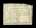Colonial Notes:North Carolina, North Carolina May 10, 1780 $250 Fine-Very Fine. Held back just abit by an irregular cut across the top...