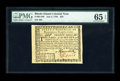 Colonial Notes:Rhode Island, Rhode Island July 2, 1780 $20 PMG Gem Uncirculated 65 EPQ. A touchclose along the top margin, but absolute perfection in ev...