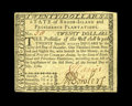 Colonial Notes:Rhode Island, Rhode Island July 2, 1780 $20 Choice New. M(etcalf) Bowler signedthis note in black ink....