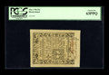 Colonial Notes:Rhode Island, Rhode Island May 1786 20s PCGS Choice New 63PPQ. The margins arequite large on this bright example....