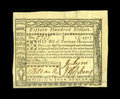 Colonial Notes:Virginia, Virginia May 7, 1781 $1500 Very Fine-Extremely Fine. The design details are solid and the paper is bright. The bottom portio...