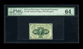 Fractional Currency:First Issue, Fr. 1240 10c First Issue PMG Choice Uncirculated 64. Full perforations all around are noticed with a touch of weakness in th...