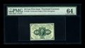 Fractional Currency:First Issue, Fr. 1240 10c First Issue PMG Choice Uncirculated 64. This is a pleasing piece with full perforations all the way around. A l...