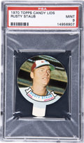 Baseball Cards:Singles (1970-Now), 1970 Topps Candy Lids Rusty Staub PSA Mint 9....