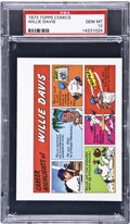Baseball Cards:Singles (1970-Now), 1973 Topps Test Comics Willie Davis PSA Gem Mint 10....