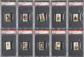 Boxing Cards:General, 1948 Topps Magic Photo Boxing PSA-Graded Complete Master Set (25) -#2 on the PSA Set Registry!...