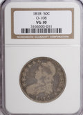 Bust Half Dollars: , 1818 50C VG10 NGC. O-108. NGC Census: (3/422). PCGS Population(1/428). Mintage: 1,960,322. Numismedia Wsl. Price for NGC/...