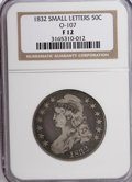 Bust Half Dollars: , 1832 50C Small Letters F12 NGC. O-107. NGC Census: (3/1491). PCGSPopulation (1/1319). Mintage: 4,797,000. Numismedia Wsl....
