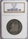 Bust Half Dollars: , 1817 50C F12 NGC. O-105A. NGC Census: (6/325). PCGS Population(3/324). Mintage: 1,215,567. Numismedia Wsl. Price for NGC/...