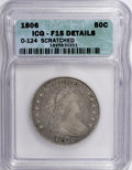 Early Half Dollars: , 1806 50C Knobbed 6, Large Stars--Scratched--ICG. Fine 15 Details.O-124. PCGS Population (4/51). Numis...