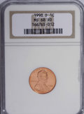 Lincoln Cents, 1998-D 1C MS68 Red NGC. NGC Census: (18/0). PCGS Population (50/0).Numismedia Wsl. Price for NGC/PCGS coin in MS68: $280....