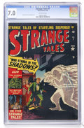 Golden Age (1938-1955):Horror, Strange Tales #7 (Atlas, 1952) CGC FN/VF 7.0 Off-white pages....