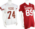Football Collectibles:Uniforms, 2000's NCAA Football Division One Game Worn Jerseys Lot of 186....