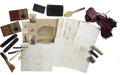 """Military & Patriotic:Civil War, Spectacular Archive and Personal Effects of Libby Prison Inmate: 2nd Lieutenant Charles H. Burd, Co. """"F"""", 4th Maine Volunteers... (Total: 29 Items)"""