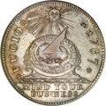 Colonials, 1787 1C Fugio Cent, New Haven Restrike, Silver MS61 NGC....