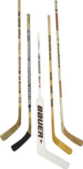 Hockey Collectibles:Others, 1980s-90s NHL Stars Hockey Sticks Lot of 5.... (Total: 5 items)
