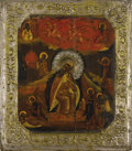 Fine Art - Painting, Russian:Antique (Pre-1900), A RUSSIAN ICON OF THE PROPHET ELIJAH. Mid 19th century. 14 x 12-1/4inches (35.6 x 31.1 cm). ...