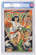 Golden Age (1938-1955):War, Fight Comics #36 (Fiction House, 1945) CGC VF/NM 9.0 Off-whitepages....