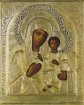 Other, A RUSSIAN ICON OF THE KAZAN MOTHER OF GOD. Late 19th-early 20thcentury. 10-1/2 x 9 inches (26.7 x 22.9 cm). ...