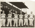 Autographs:Others, 1942 Kansas City Monarchs Pitching Staff Signed Photograph....