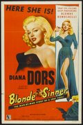 "Movie Posters:Bad Girl, Blonde Sinner (Allied Artists, 1956). One Sheet (27"" X 41""). BadGirl...."