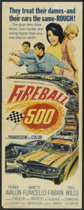 "Movie Posters:Action, Fireball 500 (American International, 1966). Insert (14"" X 36"").Action...."