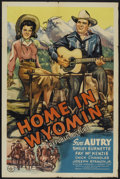 """Movie Posters:Western, Home in Wyomin' (Republic, 1942). Autographed One Sheet (27"""" X 41""""). Western...."""