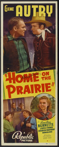 "Movie Posters:Western, Home on the Prairie (Republic, 1939). Autographed Insert (14"" X 36""). Western...."