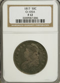 Bust Half Dollars: , 1817 50C F12 NGC. O-105A. NGC Census: (6/332). PCGS Population(3/326). Mintage: 1,215,567. Numismedia Wsl. Price for NGC/...