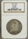 Bust Half Dollars: , 1817 50C VG10 NGC. O-105A. NGC Census: (3/338). PCGS Population(1/329). Mintage: 1,215,567. Numismedia Wsl. Price for NGC...