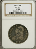 Bust Half Dollars: , 1821 50C VF20 NGC. O-106. NGC Census: (2/409). PCGS Population(1/424). Mintage: 1,305,797. Numismedia Wsl. Price for NGC/...