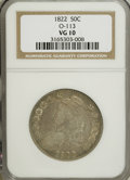 Bust Half Dollars: , 1822 50C VG10 NGC. O-113. NGC Census: (2/471). PCGS Population(2/512). Mintage: 1,559,573. Numismedia Wsl. Price for NGC/...