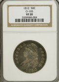 Bust Half Dollars: , 1812 50C VF20 NGC. O-105. NGC Census: (5/622). PCGS Population(10/590). Mintage: 1,628,059. Numismedia Wsl. Price for NGC...