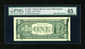 Error Notes:Ink Smears, Fr. 1908-I $1 1974 Federal Reserve Note. PMG Choice Extremely Fine45.. ...