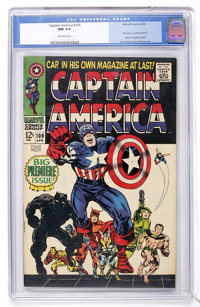 Captain America #100 (Marvel, 1968) CGC NM 9.4 Off-white pages