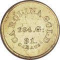 Territorial Gold, (1842-52) $5 A. Bechtler Five Dollar, 134G. 21C.--Repaired,Improperly Cleaned--NCS. AU Details....