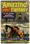 Silver Age (1956-1969):Mystery, Amazing Adult Fantasy #13 (Marvel, 1962) Condition: VG+....