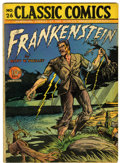 Golden Age (1938-1955):Classics Illustrated, Classic Comics #26 Frankenstein - Original Edition (Gilberton, 1945) Condition: VG....
