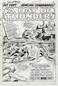 Original Comic Art:Splash Pages, Dick Ayers and John Tartaglione Sgt. Fury Special #2, page 1Original Art (Marvel, 1966)....