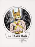 Original Comic Art:Sketches, Sheldon Moldoff Hawkman Sketch Original Art (undated)....